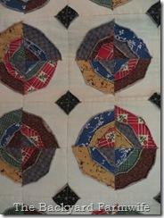The Backyard Farmwife Crafts Circle Denim Quilt