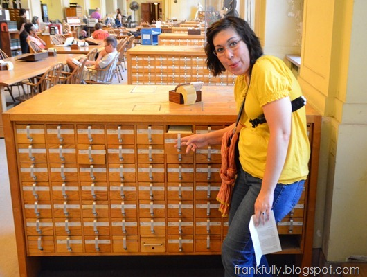 Victoria at a real card catalog!