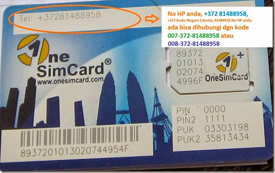 Nomor Onesimcard