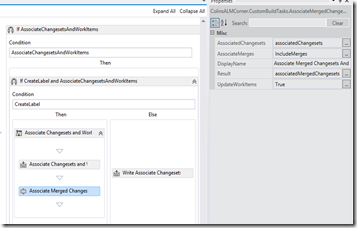Custom Build Task: Include Merged Changesets (and Work Items