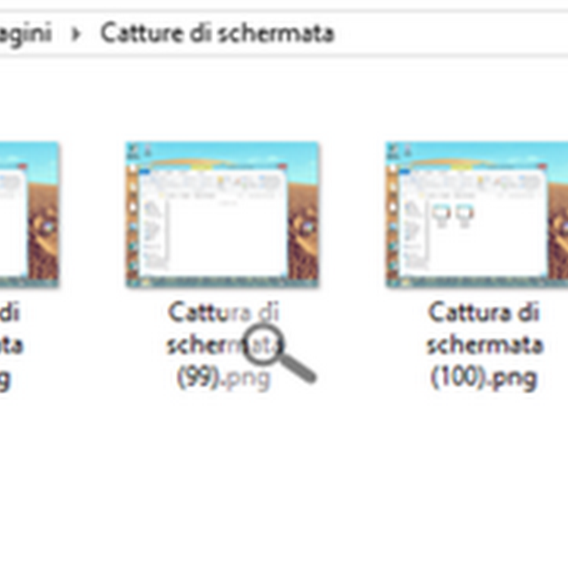 Catturare lo schermo in Windows 8.