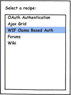 Prototipo de pantalla de selección de Recipe