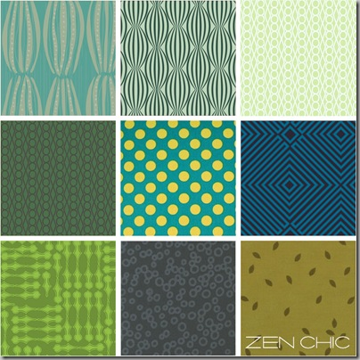 modern Fabric choice green