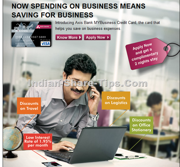 Pre-Approved Business Credit Card from Axis Bank