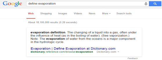 Google Define words