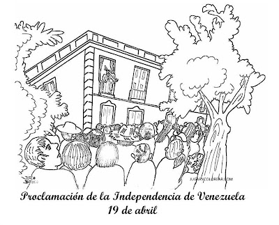 Colorear Proclamación Independencia De Venezuela