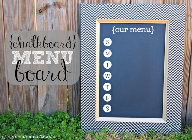 {chalkboard} menu board from GingerSnapCrafts.com