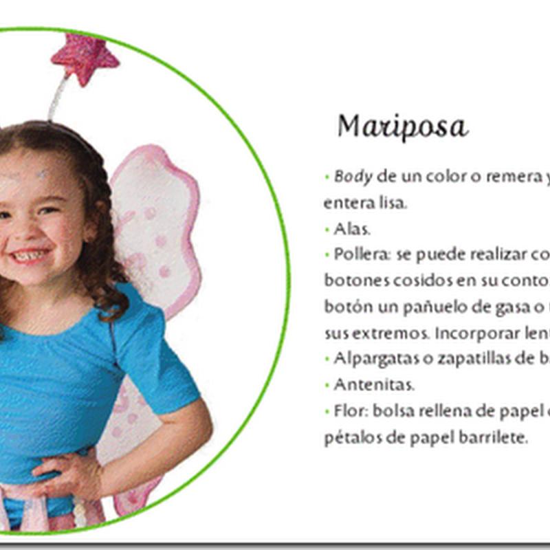 Disfraz casero de mariposa para niña muy fácil