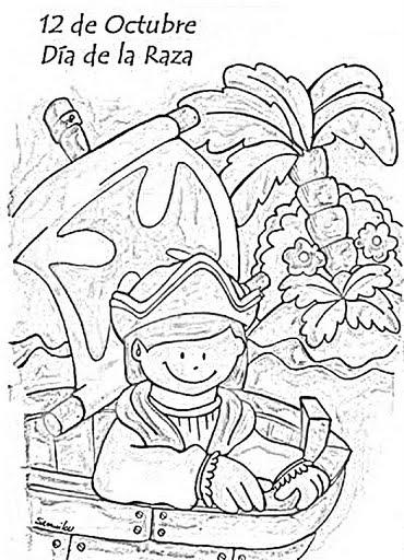 Dia De La Hispanidad Dibujos Para Colorear