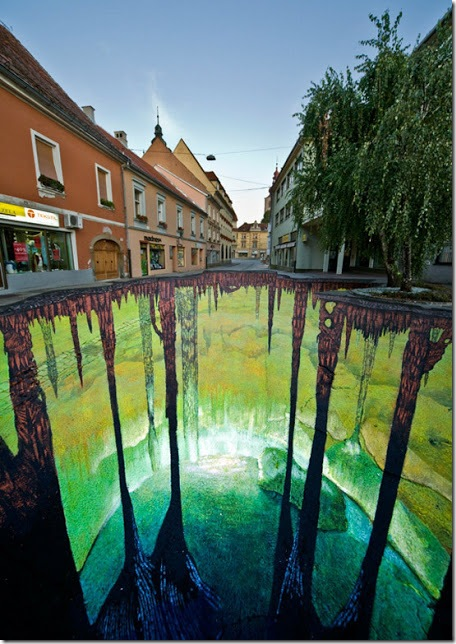 Third cave project. Ptuj, Slovenia. 3D paintings