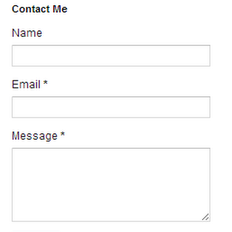 Create Separate Contact Page in Blogger