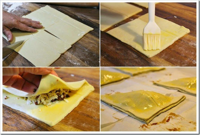 Cheese and Chorizo Turnovers Recipe | Instructions step by step