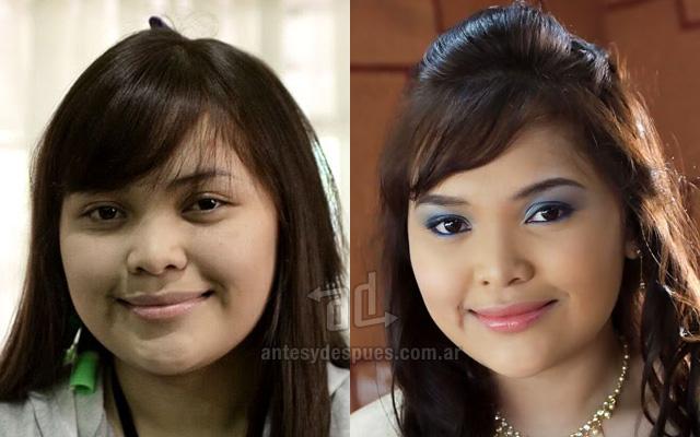 Antes y despues del maquillaje 7