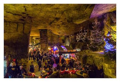 Valkenburg - Weihnachtsmarkt - In der Grotte