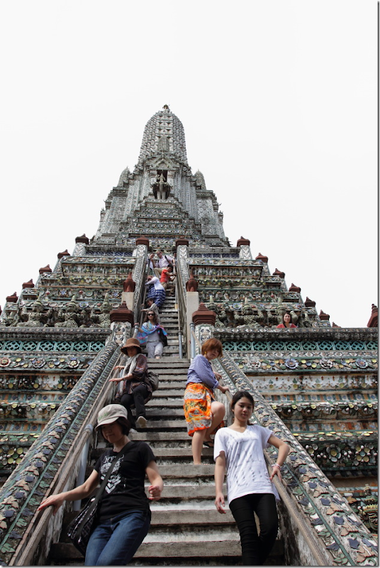 Steep Flight of Stairs that lead to the top of Wat Arun, Bangkok