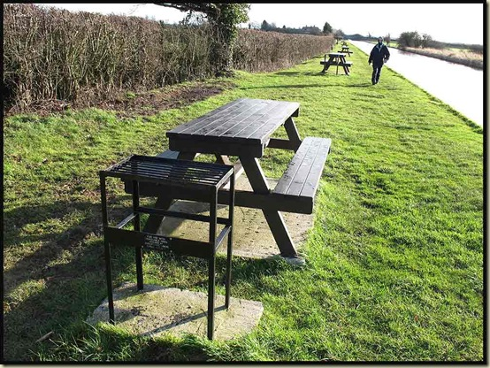 Picnic benches - courtesy of the Shropshire Union Canal Society