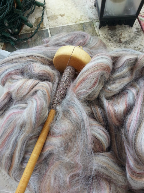 spinning wool silk drop spindle