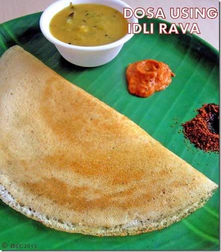 dosa using idli rava