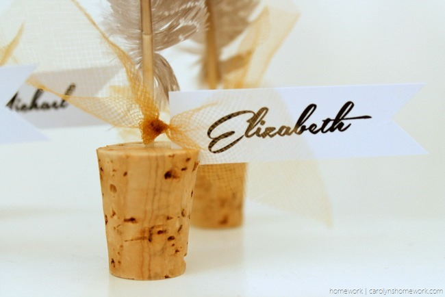 Cork & Feather Place Cards - homework  (8)