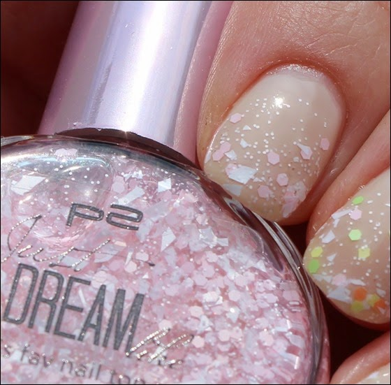 P2 Just dream like spring's fav nail top coat 04 peach delight dots