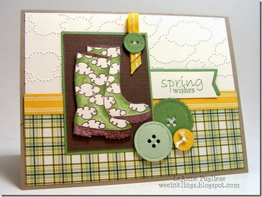 LeAnne Pugliese WeeInklings Bootiful Spring Wishes Stampin Up