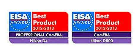 Nikon D4 D800 Digital SLR cameras EISA European Imaging and Sound Association Photo Awards European Professional Camera of the Year 2012-2013 Awards and European Camera of the Year 2012-2013 Award