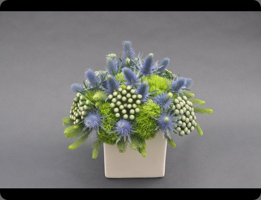 medblue-and-green  L'Oasis floral design