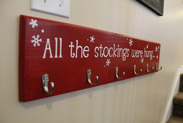 all the stockings were hung board