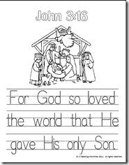 john 3 coloring pages   Memory Verse Helps-John 3:16 - A Teaching Mommy