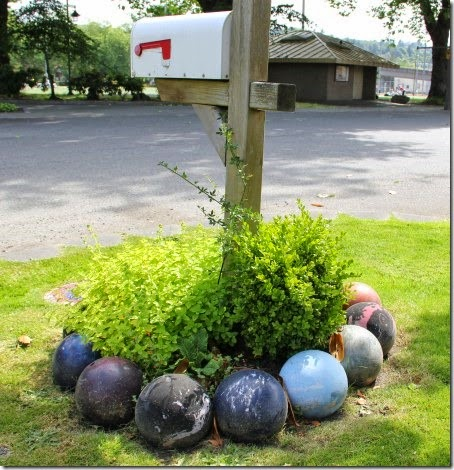 bowling ball garden border