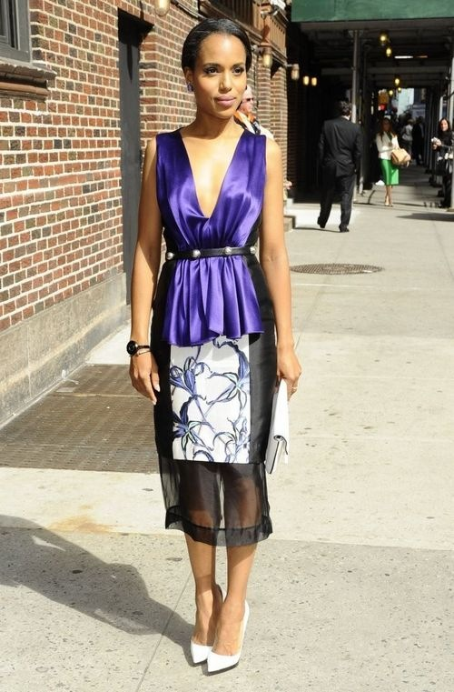 Kerry Washington Celebs Arrive Ed Sullivan