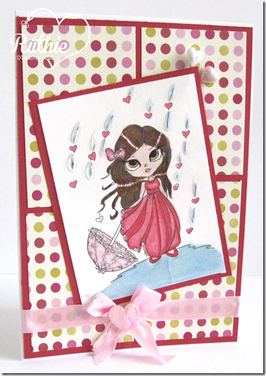 Lucy Sunshine Stamps - Emily Showers Of Love - Latinas Arts and Crafts - Ruthie Lopez DT - Valentine´s Day Card - 5