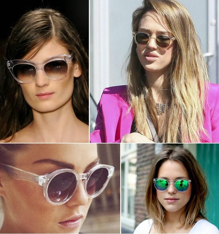 Aposte nos óculos de sol com armação transparente! Veja a seleção de peças! 786fc8ab3a