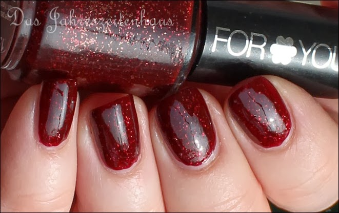 Bordeaux For You Nagellack Rot mit Glitzer 5