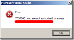 TF30063: You are not authorized to access collection