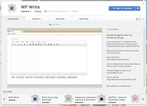 WP Write para Chrome