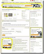 Ancestry.com.主页广告的位置
