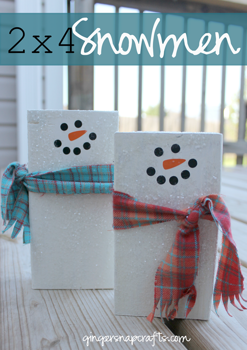 2x4 Snowmen at GingerSnapCrafts.com