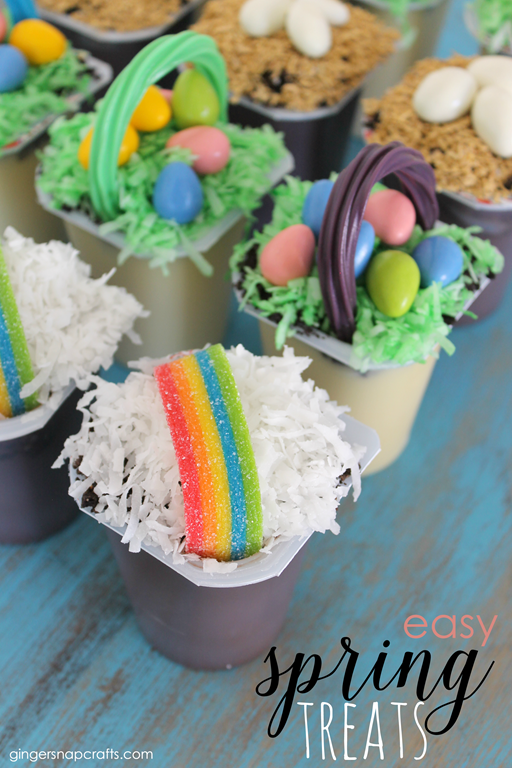 Easy Spring Treats at GingerSnapCrafts.com #spring #treats