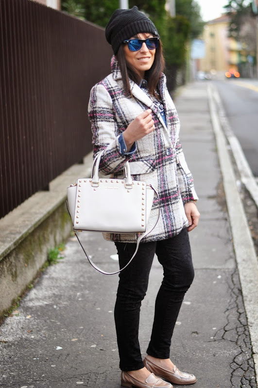 outfit, tartan, mood tartan, michael kors bag, italian fashion bloggers, fashion bloggers, street style, zagufashion, valentina coco, i migliori fashion blogger italiani
