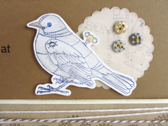 2013May23 rubber stamp steampunk card clockwork blackbird 3
