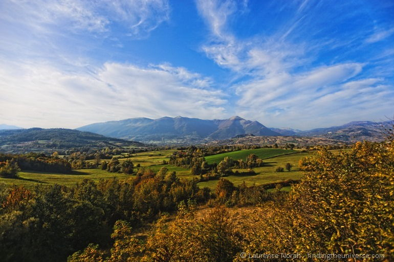 Autumn view of Molise by train