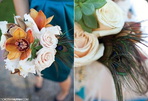 teal-peacock-succulent-bouquet aileen tran