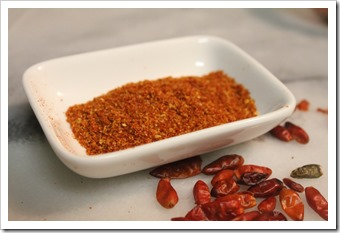 Hot Piquín Pepper Powder | step by step instructions with photos of the process.