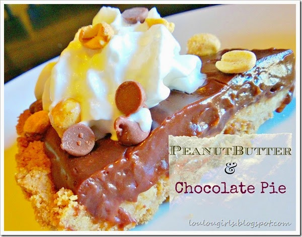 Peanut Butter and Chocolate Double Layer Pie