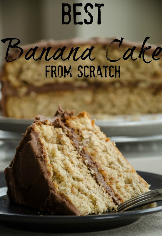 Best Banana Cake From Scratch | Recipe from an old-fashioned cookbook because it's one of our family favorites for birthday cake! | personallyandrea.com