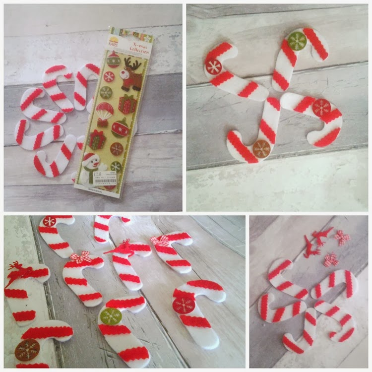 DIY decorated candy canes
