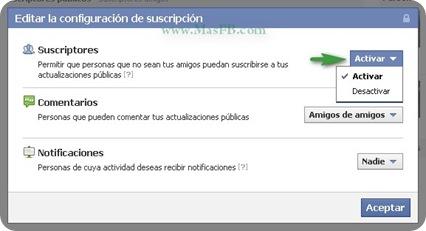 Desactivar Suscripciones Facebook
