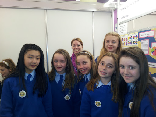 The girsl from Mount Sackville primary presenting their project on Smarter Electricity at BTYSTE