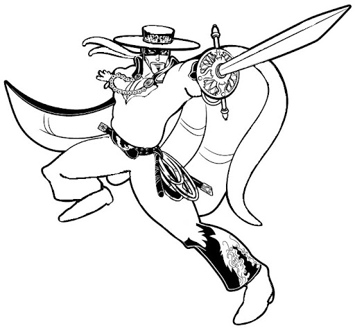Zorro Coloring Pagesrhcoloringp: Zorro Cartoon Coloring Pages At Baymontmadison.com